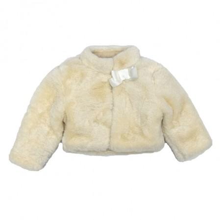Palton scurt si pufos Contrast bebe