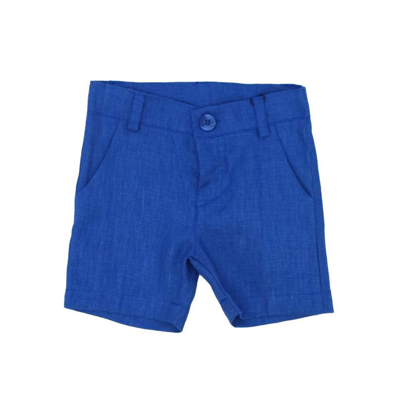 Pantaloni scurti din in baieti Contrast