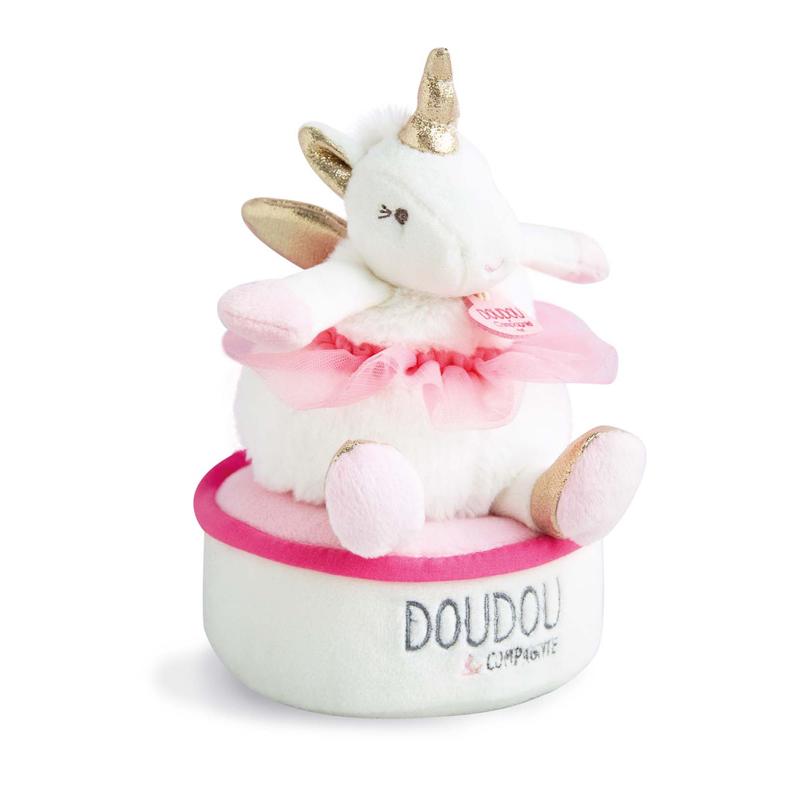 Jucarie muzicala Unicorn rotativ Doudou et  Compagnie