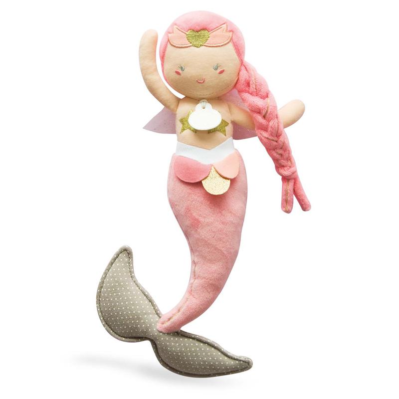 Jucarie de plus pentru bebelusi Sirena Taissa de la Doudou et Compagnie