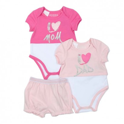 Set bodyuri si pantaloni scurti Guess fete