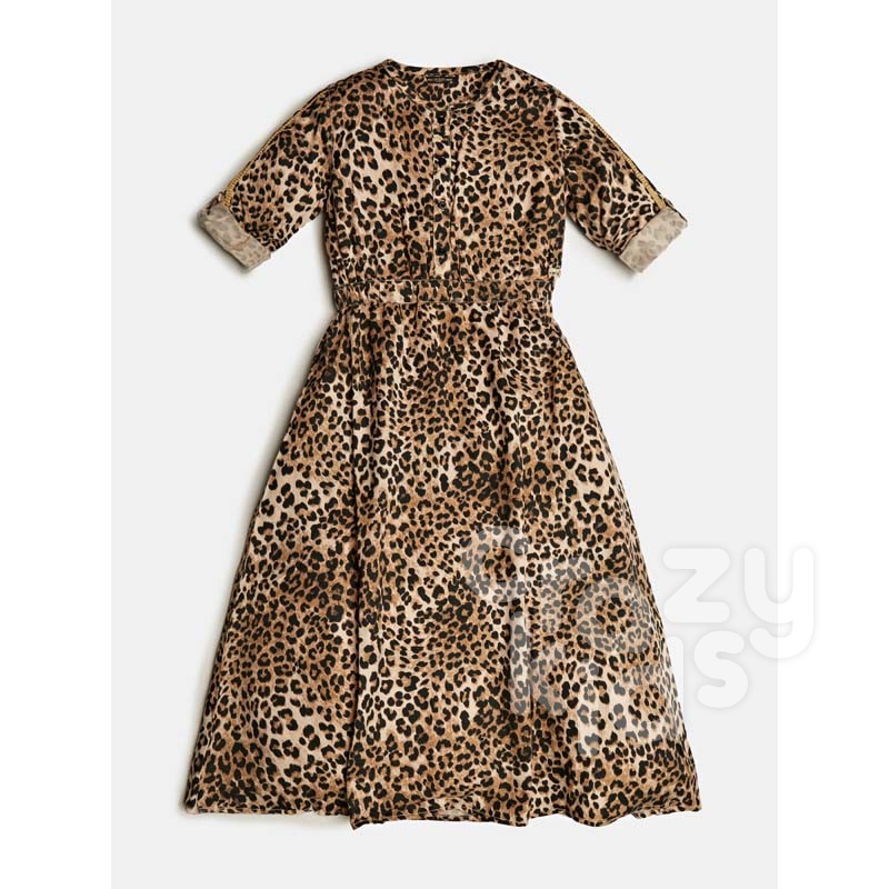 Rochie animal print Guess copii