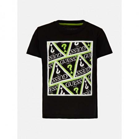 Tricou cu print scris Guess de baieti