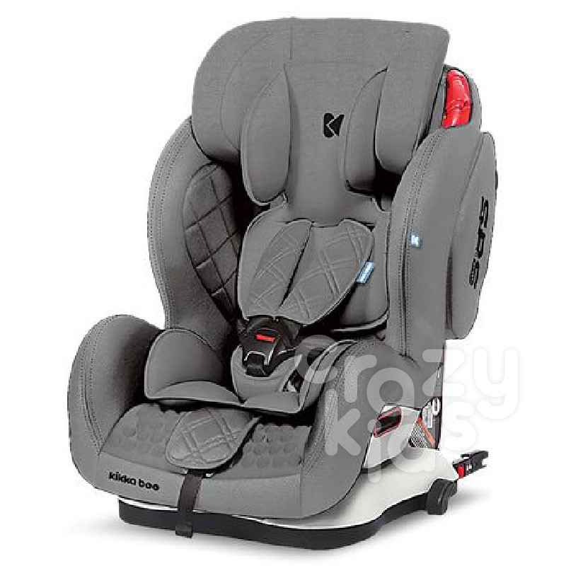 Kikka Boo scaun auto 1,2,3 9-36 kg Major Gray Isofix