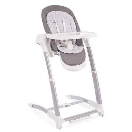 Kikka Boo scaun de masa si leagan 3 in 1 Prima Grey