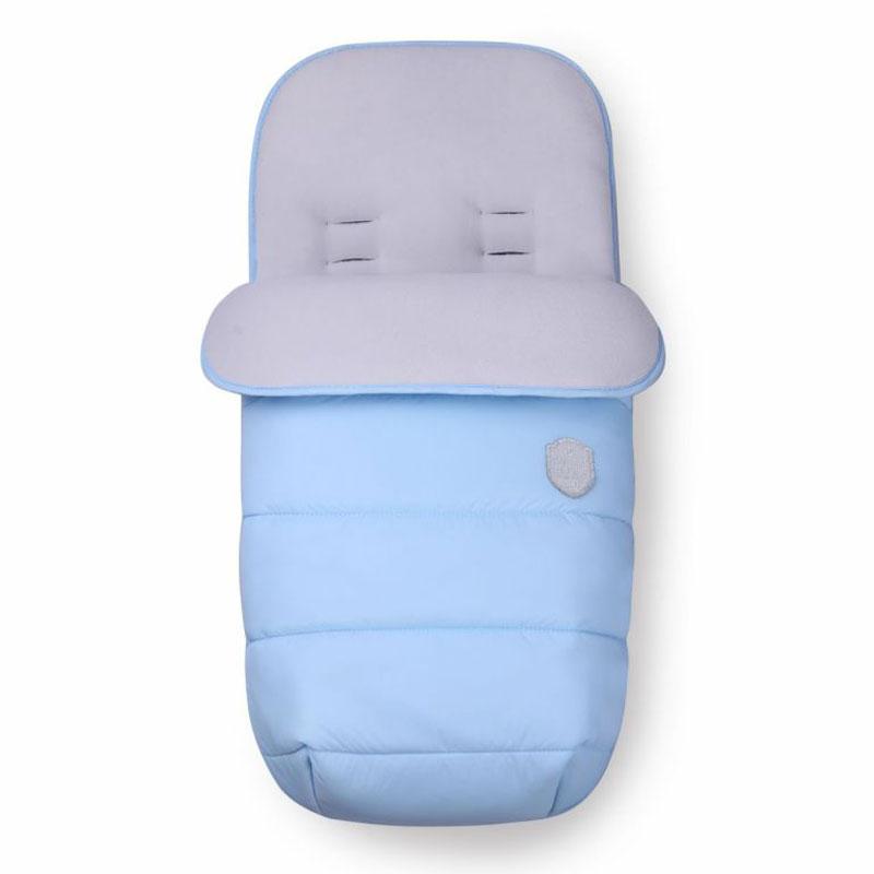 Sac de dormit carucior Kikkaboo Embroidered Baby Blue