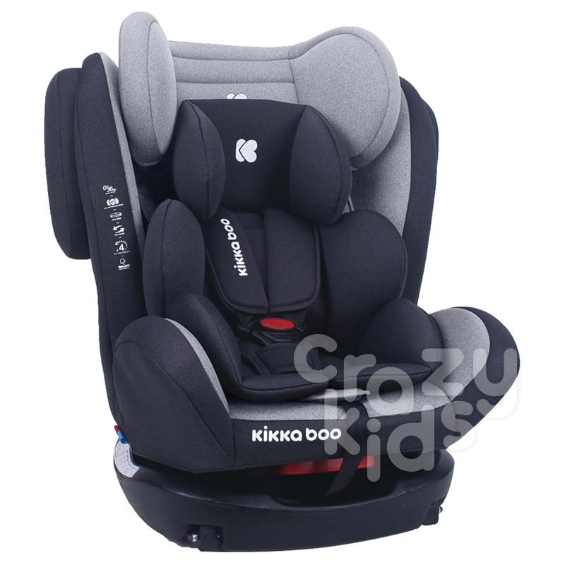 Kikka Boo scaun auto 0-1-2-3 0-36 kg 4 Fix Light Grey 2020