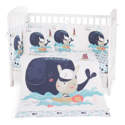 Kikka Boo set dormitor bebe 6 piese 70 х 140 Happy Sailor