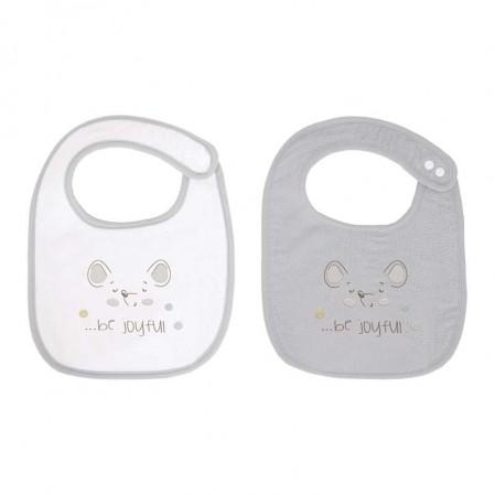 Kikka Boo set 2 bavete material frotir Joyful Mice