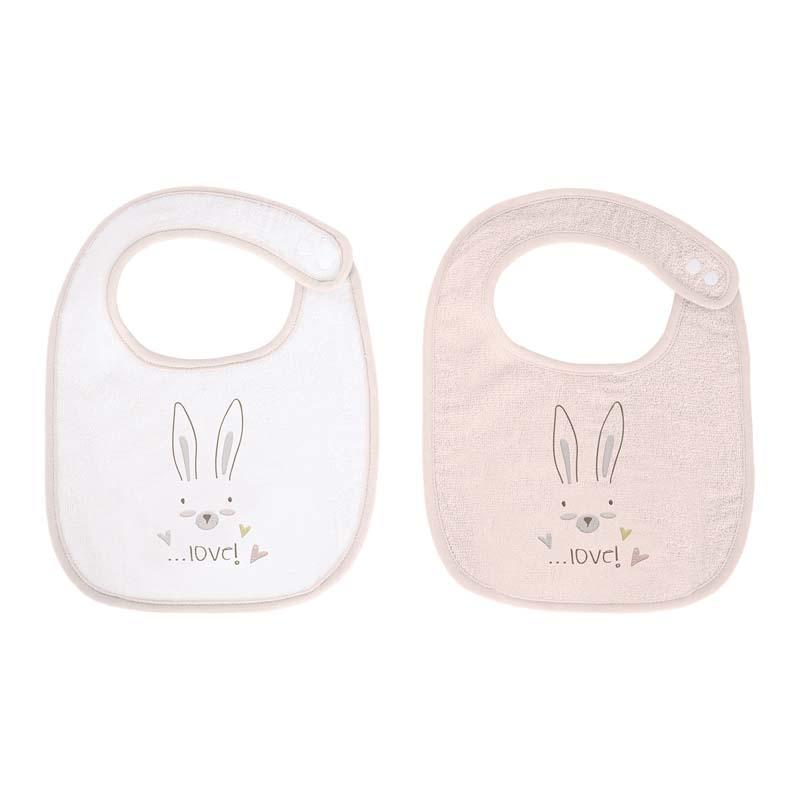 Kikka Boo set bavete material frotir Rabbits in Love