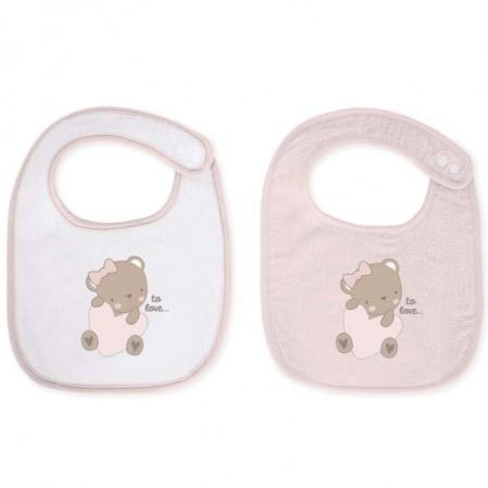 Kikka Boo set bavete material prosop Dreamy Flight Pink