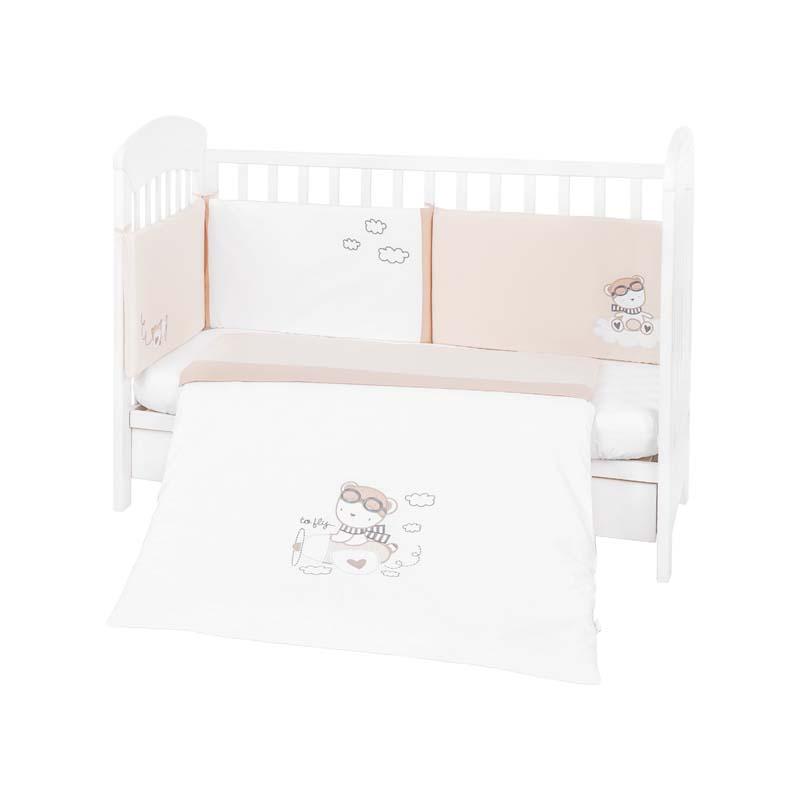 Kikka Boo set dormitor 2 piese EU style 70х140 cu broderie Dreamy Flight