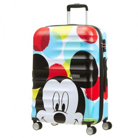 Samsonite valiza cu 4 roti Wavebreaker Mickey Close Up АТ  67 сm