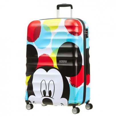Samsonite spinner cu 4 roti Wavebreaker Mickey Close Up АТ 77 сm
