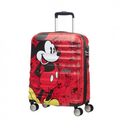 Samsonite Spinner cu 4 roti Wavebreaker Mickey Comics Red АТ 55 сm