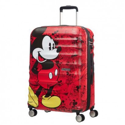 Samsonite spinner cu 4 roti Wavebreaker Mickey Comics Red АТ 77 сm