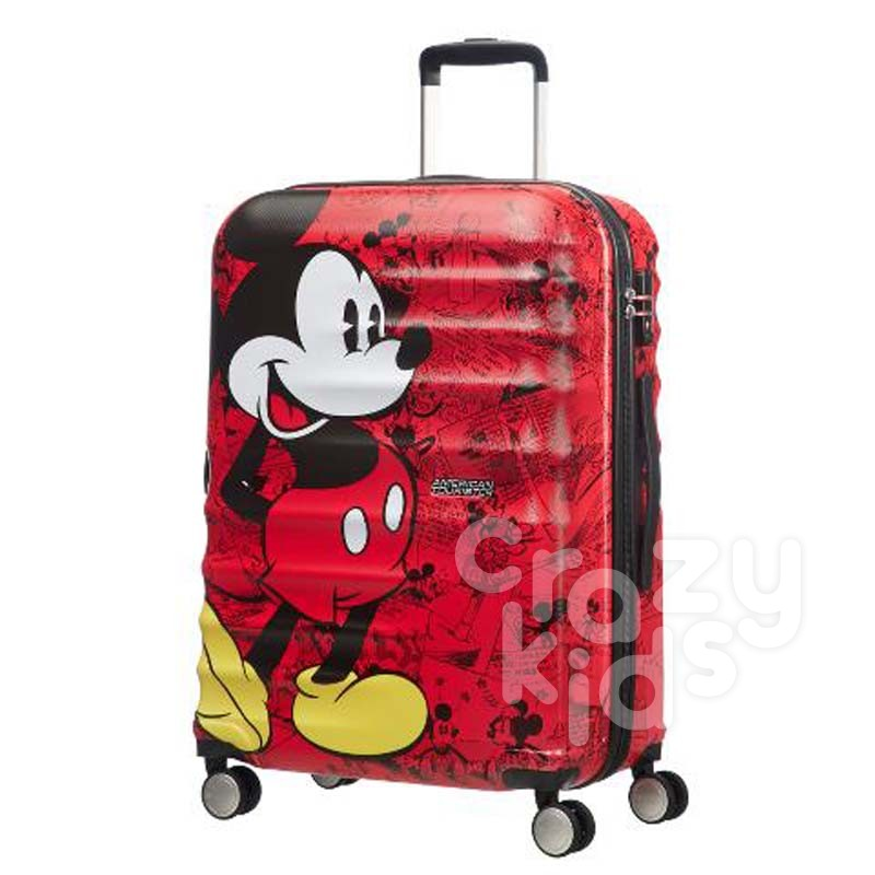Samsonite spinner cu 4 roti Wavebreaker Mickey Comics Red АТ 77 сm