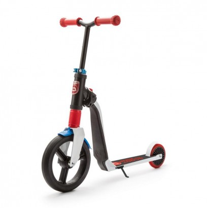 Trotineta copii Scoot and Ride Highwayfreak 2 in 1 - scooter si bicicleta pentru balans rosie-neagra