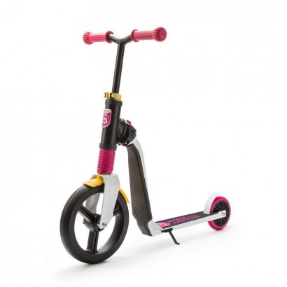 Trotineta copii Scoot and Ride Highwayfreak 2 in 1 - scooter si bicicleta pentru balans roz-neagra