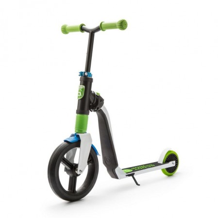 Trotineta copii Scoot and Ride Highwayfreak 2 in 1 - scooter si bicicleta pentru balans -verde-neagra