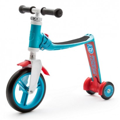Trotineta copii Scoot and Ride Highwaybaby 2 in 1 scooter si bicicleta pentru balans bleu-rosie