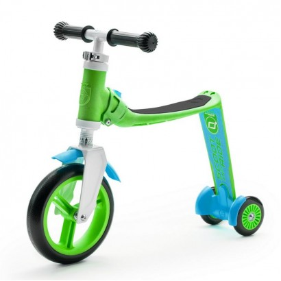 Trotineta copii Scoot and Ride Highwaybaby 2 in 1 scooter si bicicleta pentru balans verde-bleu