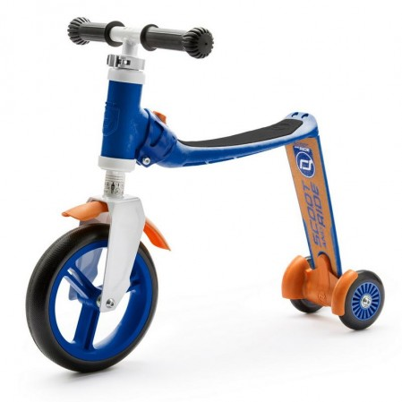 Trotineta copii Scoot and Ride Highwaybaby 2 in 1 scooter si bicicleta pentru balans bleu-ornaj