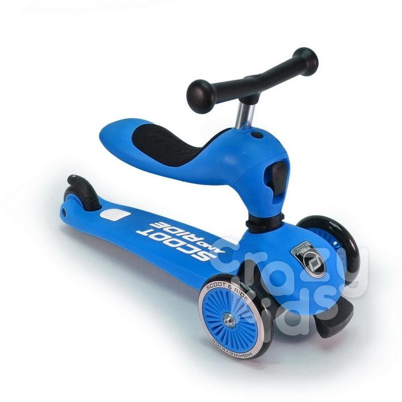 Trotineta copii Scoot and Ride 2 in 1 Highwaykick 1 - 2 in1 scooter si bicicleta pentru balans- blue