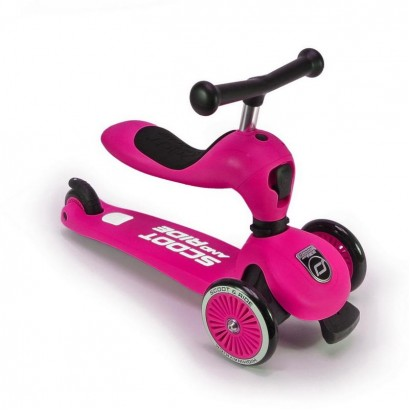 Trotineta copii Scoot and Ride 2 in 1 Highwaykick 1 - 2 in1 scooter si bicicleta pentru balans-roz