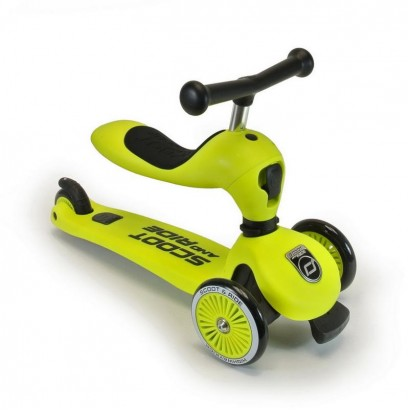 Trotineta copii Scoot and Ride 2 in 1 Highwaykick 1 - 2 in1 scooter si bicicleta pentru balans-lime