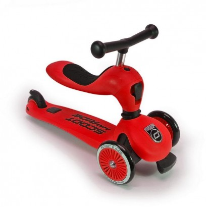 Trotineta copii Scoot and Ride 2 in 1 Highwaykick 1 - 2 in1 scooter si bicicleta pentru balans - red