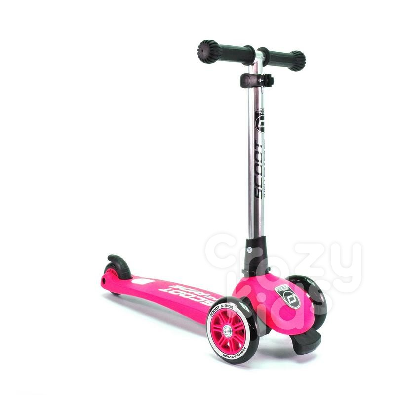 Trotineta copii Scoot and Ride 2 in1 Highwaykick 3 pliabila- roz