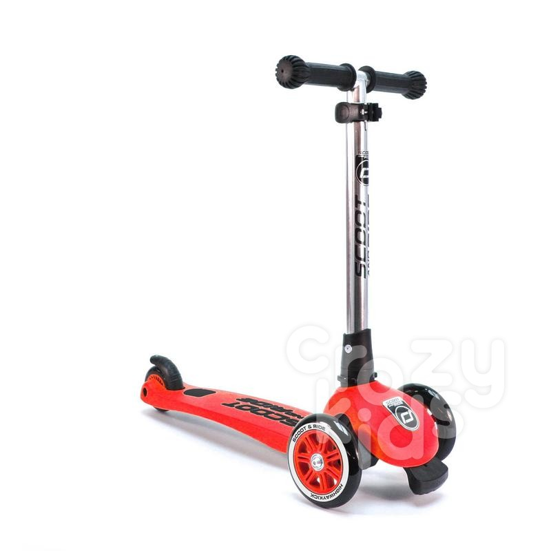 Trotineta copii Scoot and Ride 2 in1 Highwaykick 3 pliabila - rosie