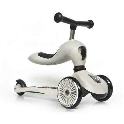 Trotineta Scoot and Ride Highwaykick 1- 2 in 1 scooter si bicicleta de echilibru - crem