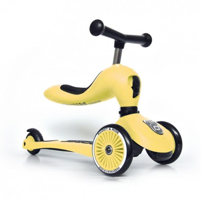 Trotineta Scoot and Ride Highwaykick1  2 in 1 Scooter si bicicleta de balans Lemon