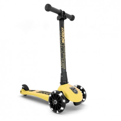 Trotineta pliabila Scoot and Ride Highwaykick3 LED Lemon