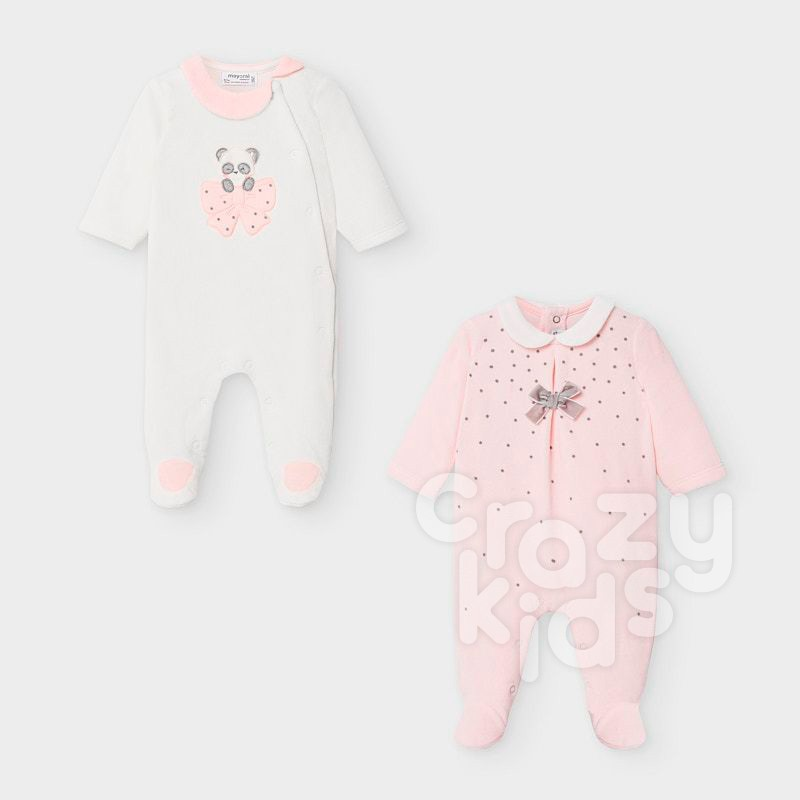 Set salopete Panda Mayoral bebe