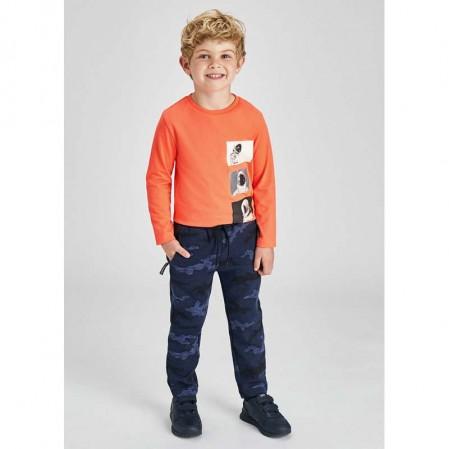Pantaloni cu print camuflaj baieti Mayoral