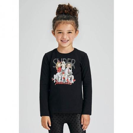 Bluza cu print si scris Mayoral fete