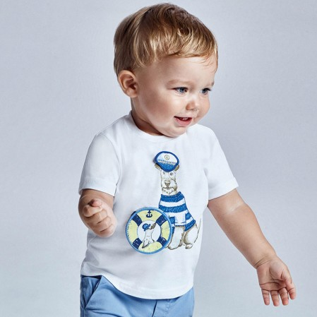 Tricou bebe Play Dogs Mayoral