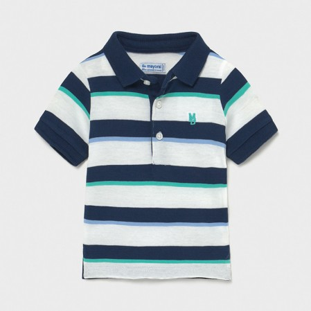 Tricou polo in dungi Mayoral bebe