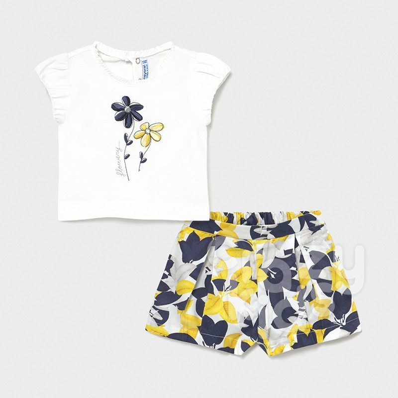 Set doua piese cu broderie Mayoral bebe