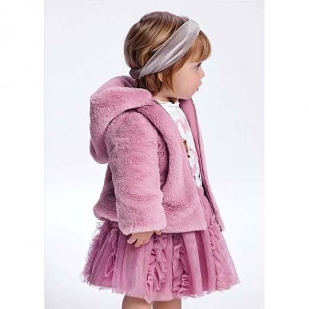 Palton pufos pentru fete Mayoral