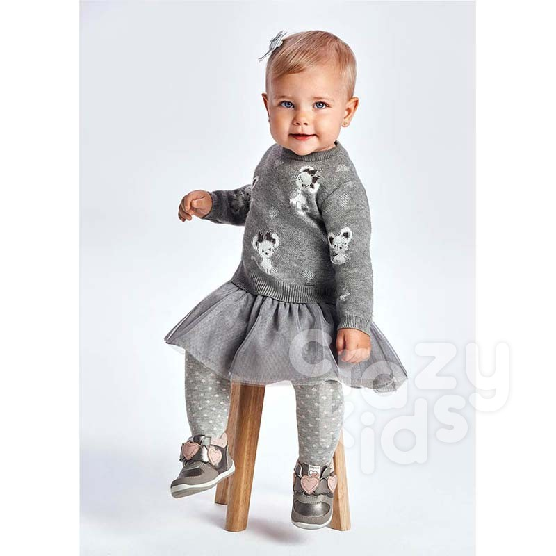 Rochie-pulover cu tulle Mayoral bebelusi