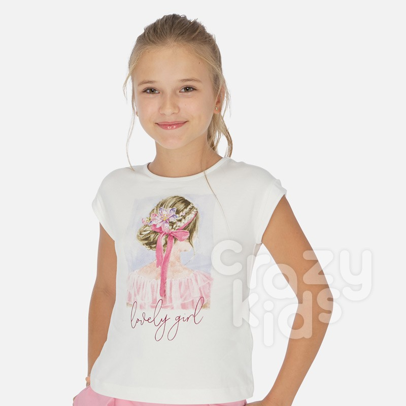 Tricou fetite Mayoral Lovely girl